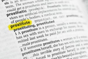 prostitute dictionary definition page