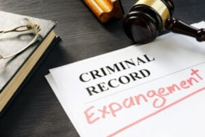 A criminal record of expungement.