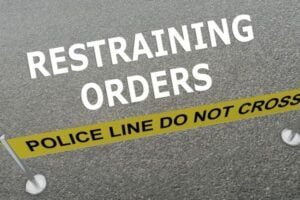 Restraining Orders concept